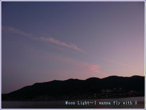 ほんのり夕焼け飛行機雲