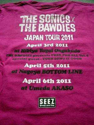 2011 TOUR  Tシャツ(バック)