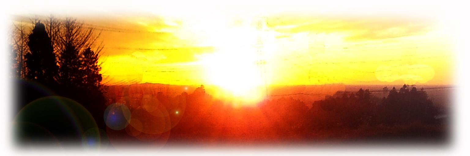 聖なる冬の朝空