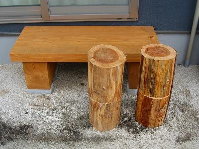 屋外テーブル、椅子