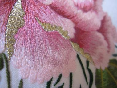 ピンクの牡丹 花びら①