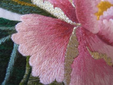 ピンクの牡丹 花びら②