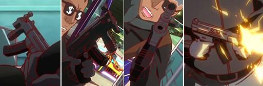 「TIGER & BUNNY」(第1話)に登場した銃器まとめ