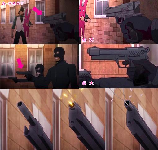 「TIGER & BUNNY」(第5話)に登場した銃器まとめ
