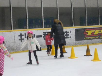 初スケート教室