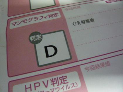判定 「D」