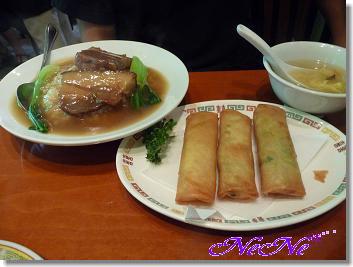 角煮丼&春巻き