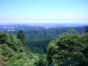神奈川の方まで見えた