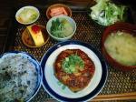 新町 Asian Cafe 花雷 日替わり(つくねハンバーグ てりやきソース)