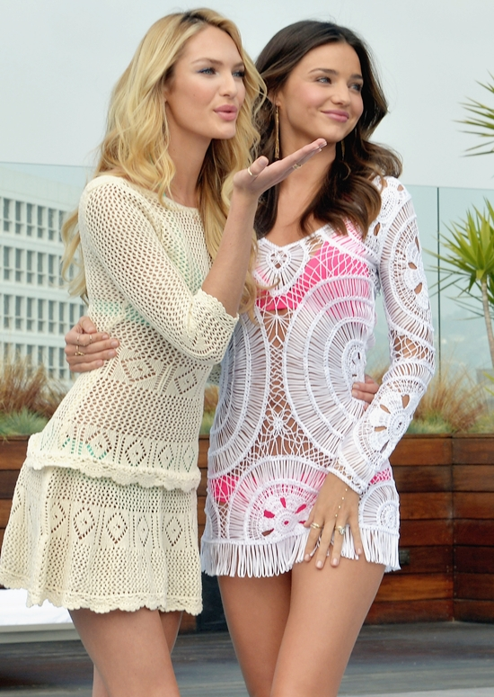 ミランダ・カー&キャンディス・スワンポール@2012 Victoria's Secret Swim Collection Launch