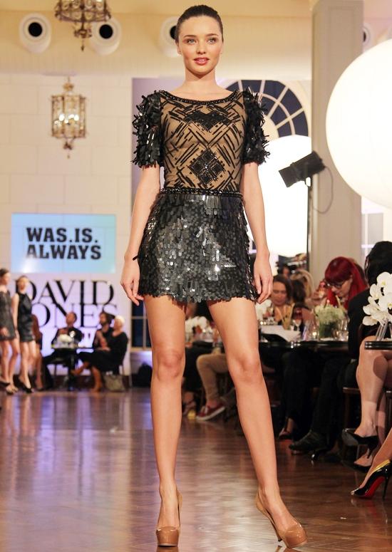 ミランダ・カー デイヴィッド・ジョーンズ2012秋冬コレクション・ショー