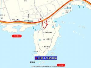 房総最南端の地図