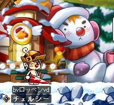 紅潮雪だるま