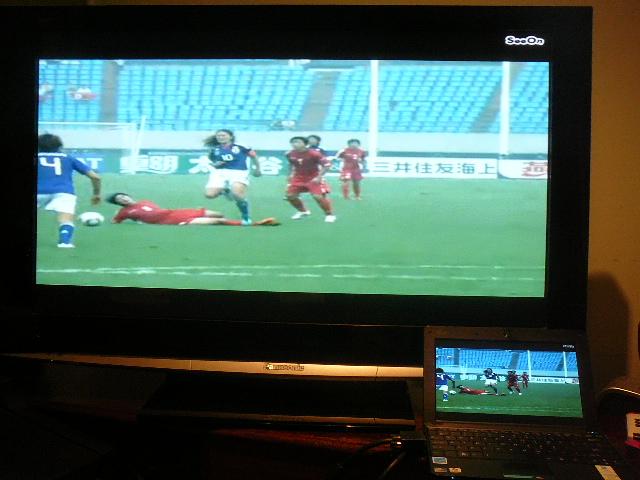 サッカー北朝鮮戦2