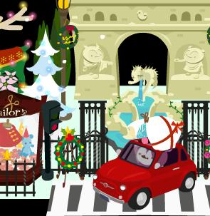サンタも歩くの面倒って・・・