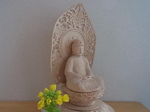 釈迦と菜の花