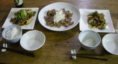 お肉がたくさん!回鍋肉と豚タン焼き!2007.12.20