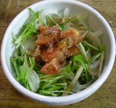 水菜のサラダ!手作りドレッシング!2007.12.21