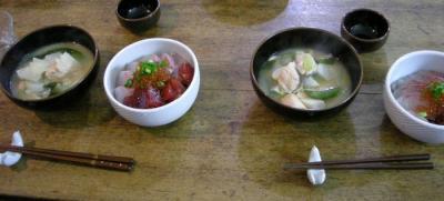 いくらと鮭の親子定食!!!2007.12.22