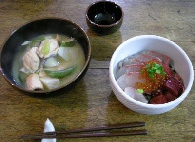美味しい!いくらと鮭の親子定食!2007.12.22