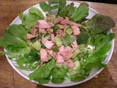 ブロッコリーとハムのサラダ!2007.12.24