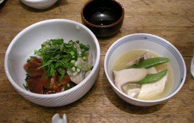 海鮮丼!とカンパチのお味噌汁!2007.12.25