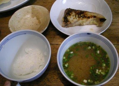 今日はあるもので!ぶりの西京焼の定食!2007.12.28
