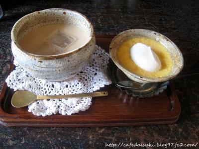 CAFE トワトワト◇和栗のプリン&アイスロイヤルミルクティー