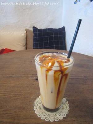 YATSUDOKIYA CAFE◇アイスキャラメルラテ