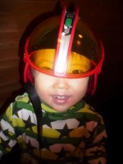ヘルメット被る
