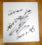 麻美さんのサイン