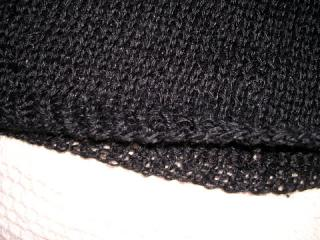 ねじり一目ゴム編み