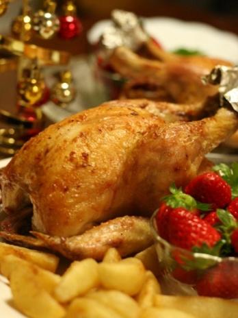ひな鶏の丸焼き