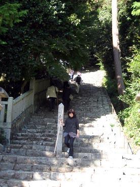階段の始まり:長命寺