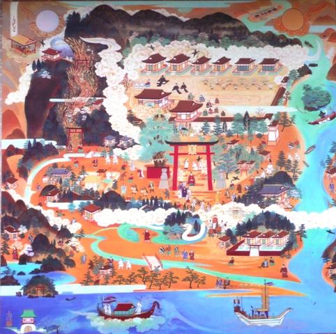 世界遺産 熊野速玉大社参詣曼荼羅