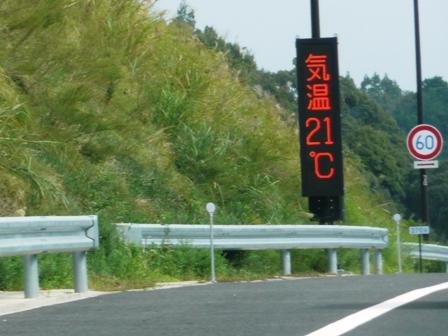 気温21℃