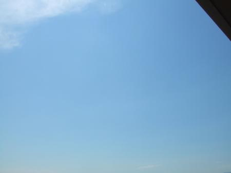 晴れた空。
