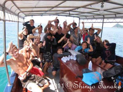 タオ島、ジンベエ、集合写真11月20日