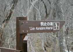 日光国立公園 平成の森 駒止の滝入口