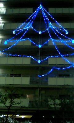 マンションのクリスマスツリー