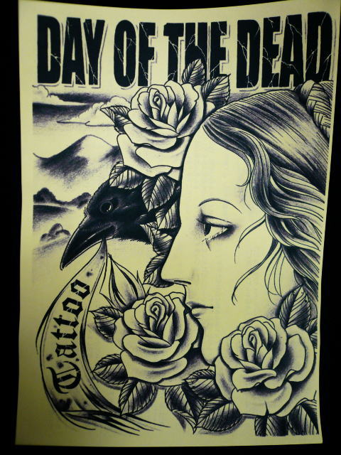 DAY OF THE DEAD TATTOO フライヤー