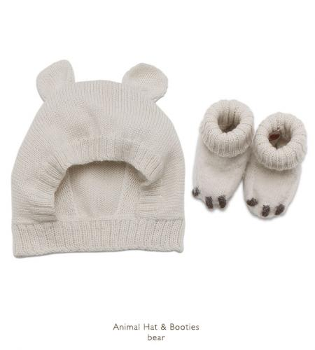Oeuf│Animal Hat and Booties_Bear