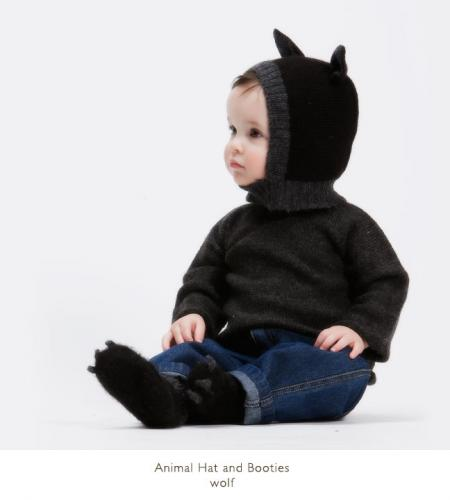 Oeuf│Animal Hat and Booties_Wolf