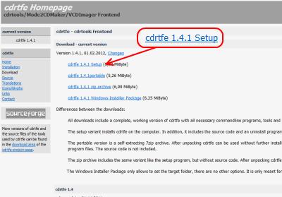 cdrtfe ダウンロードページ