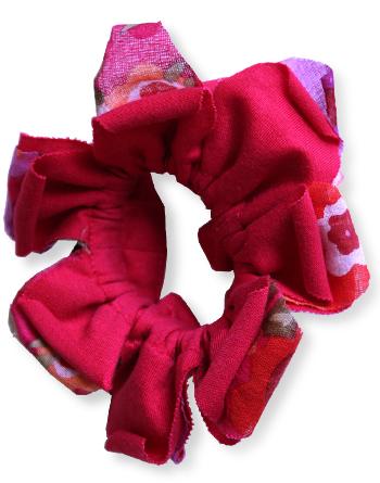 Petal シュシュ(花びらシュシュ) インド綿