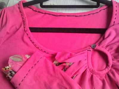 Petal[花びら]-カットソー(長袖) ピンク