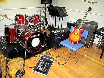 スタジオでの練習風景
