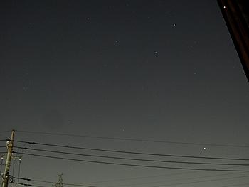 東の夜空 オリオン座流星群 は見られなかった