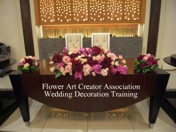 結婚式 フラワー装飾 実習