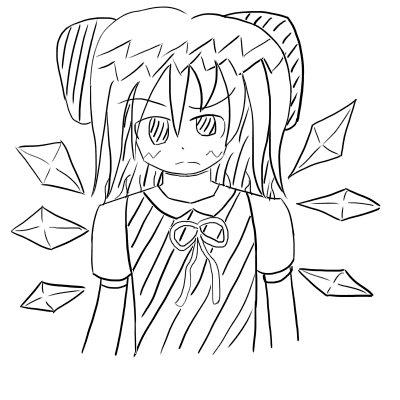 落書きチルノ